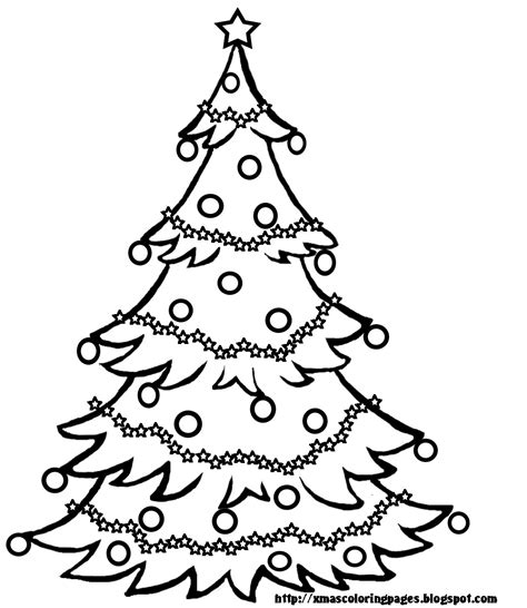 Black And White Tree Coloring Page Xmas Coloring Pages