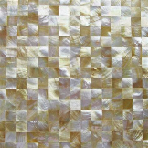 pearl mosaic bathroom tiles tst yellow lip shell sea shell yellow gold seamless