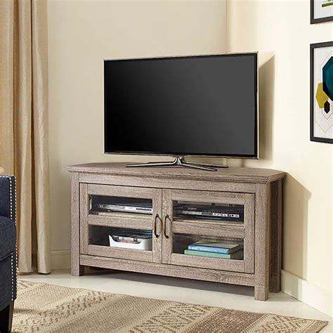 corner tv stand walker edison 48 inch corner tv stand driftwood w44ccrag