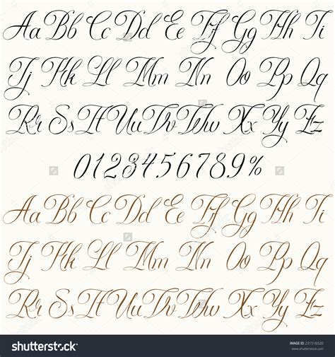 tattoo fonts vector 28 fonts letters and numbers font