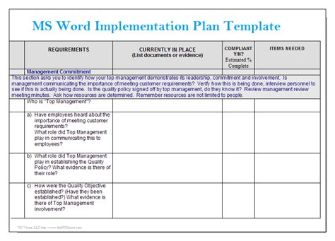 project management manual template ms word implementation plan template microsoft word