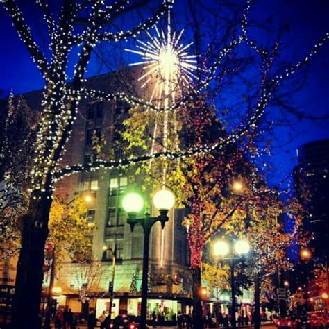 holiday lights in downtown seattle christmas all over