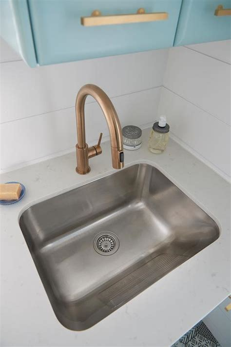 laundry room sink faucet stainless steel laundry room sink with gold gooseneck