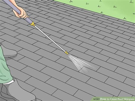 load shingles to roof how to clean roof shingles 13 steps with pictures wikihow