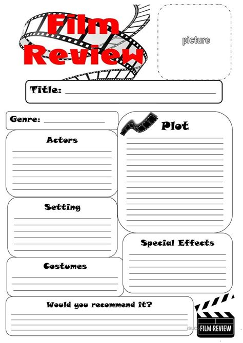film review worksheet worksheet free esl printable