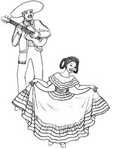 spanish dress coloring sheet coloring pages