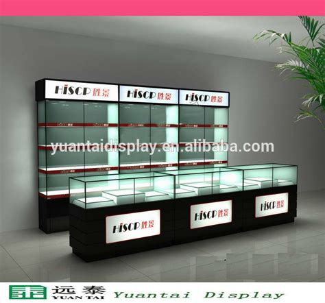 mobile shop new design glass cell phone display cases mobile shop