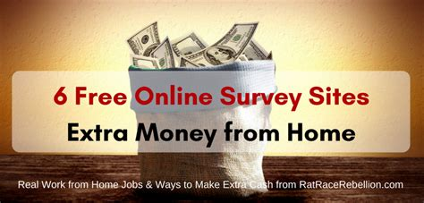 Extra Income Working Online From Home - extra money from home 6 free online survey sites real work from home jobs by rat