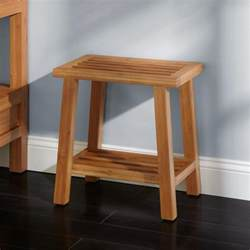 Bathroom Stool by Freestanding Bamboo Slotted Bathroom Stool Ebay