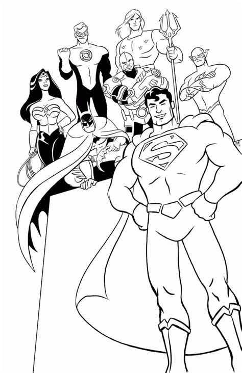 printable coloring pages justice league justice league coloring pages coloring home