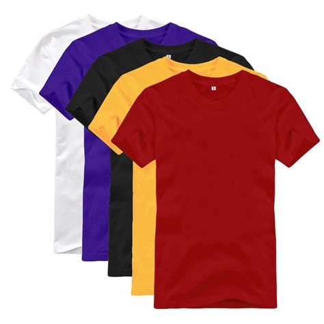 new unisex solid color t shirt five colors for