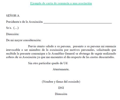 Carta De Renuncia Ejemplo Ecuador modelos de cartas de renuncia imagui