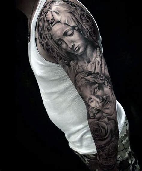 35 christian tattoos on full sleeve