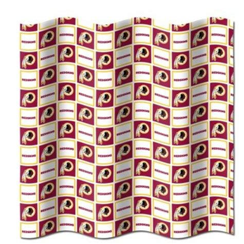 redskins shower curtain discount fan sport shower curtain to sale sale