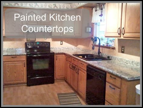 Kitchen Countertop Paint Painted Kitchen Countertops Just Paint It