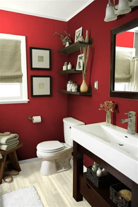 badezimmer fliesen rot rote wand 50 ideen mit wandfarbe rot archzine net