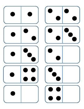 printable domino cards domino cards 0 to 5 sle by tx math mania teachers pay