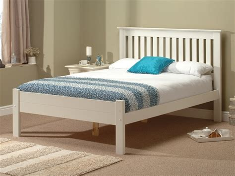 White Wooden Bed Alder White By Snuggle Beds At Mattressman