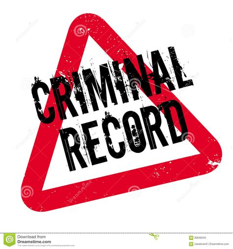 Can A Criminal Record Be Removed Criminal Record Rubber St Stock Vector Image 83646240