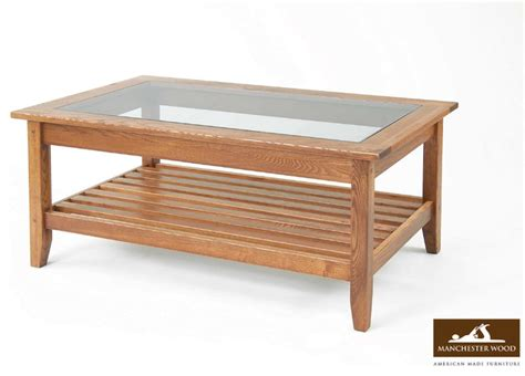 glass top coffee table by manchester wood traditional
