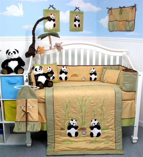 panda crib bedding soho giant panda crib bedding collection baby bedding