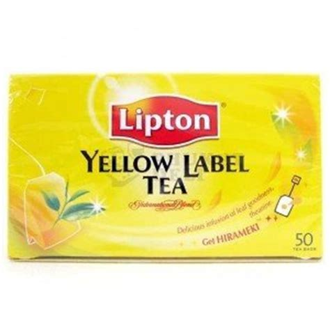 Teh Lipton Yellow Label lipton yellow label tea 50 tea bags 100g thailand product grocery tea sler