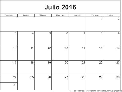 Calendario Julio Julio Calendario 2016 Para Imprimir Related Keywords