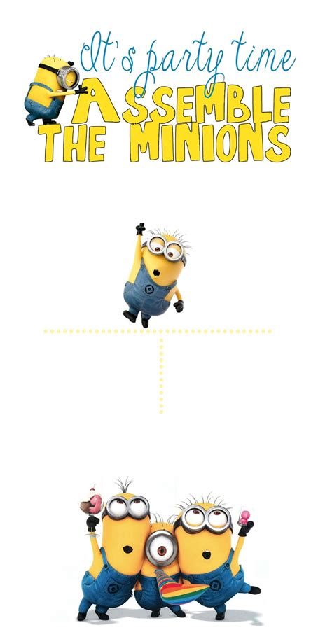 30 Minion Ideas Assemble The Minions Pelitabangsa Ca Minion Birthday Invitations Templates Free