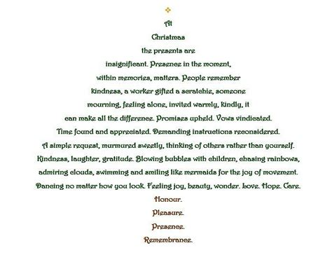 quot christmas tree shape poem quot by msdebbie redbubble