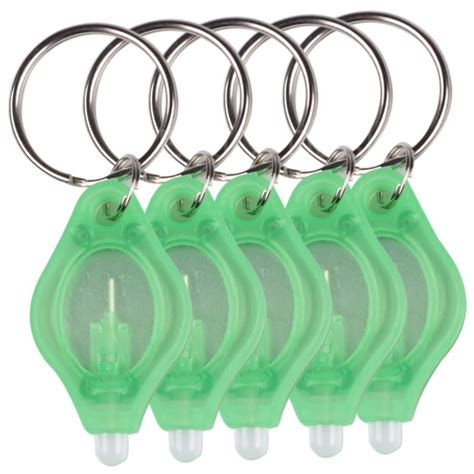 Senter 5pcs Ring Bright Flashlight Mini Led Fishing L Keychain Keyr 10pcs mini bright led micro light keychain squeeze light