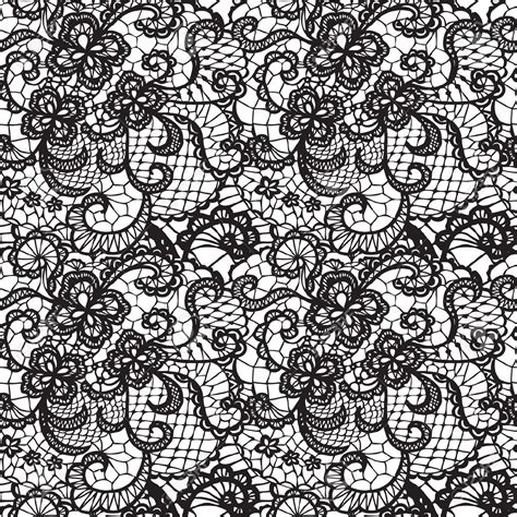 Harry Potter Curtains lace black seamless pattern with flowers on white