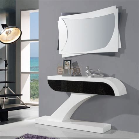 console moderna console entr 233 e moderne laque bicolore miroir assorti brasilia