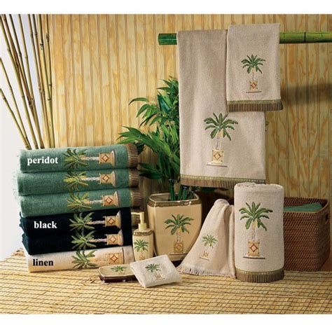 palm tree bathroom sets banana palm tree decorative bath accessories by avanti