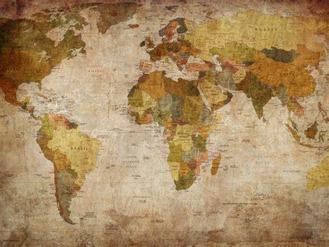 mural mapa mundi antiguo tierras murales de estilo vintage