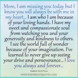 Words That Mean Comfort Missing Mother In Heaven Quotes Quotesgram