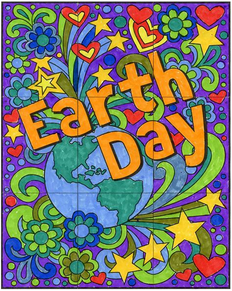 Earth Day 4 free mini earth day mural projects for