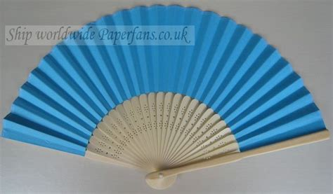 Paper Folding Fans - turquoise wedding paper folding fan 0 6