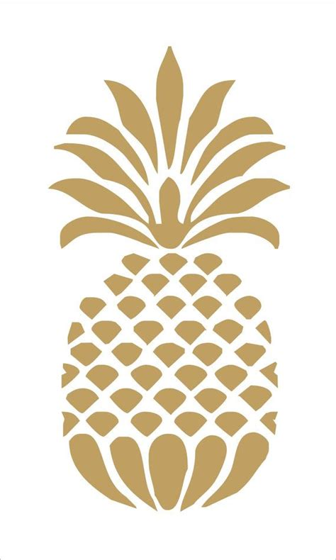 pineapple stencil 8 sizes available create beach