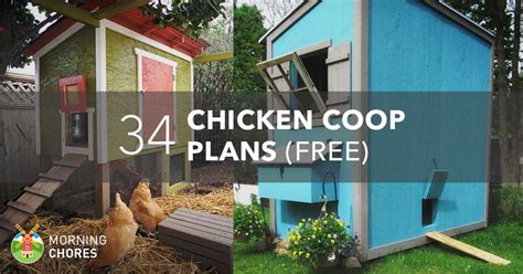 61 Diy Chicken Coop Plans That Are Easy To Build 100 Free Chicken House Blueprints Free