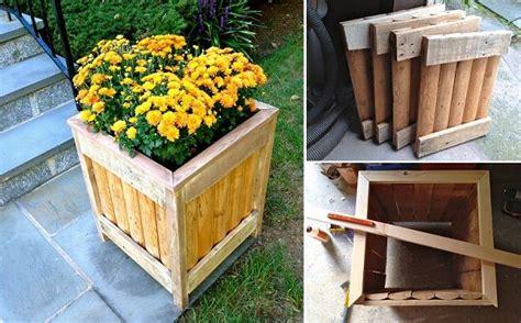 diy wooden planter    gardening pinterest