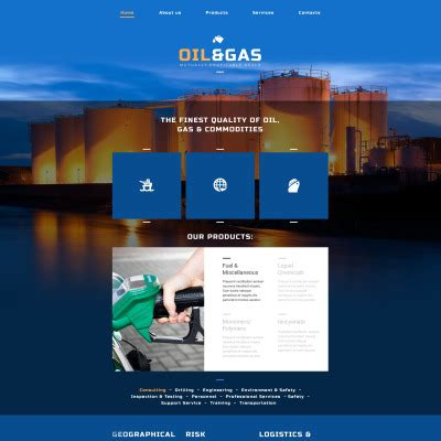 18 Best Gas Website Templates Oil Website Templates Gas Station Website Template