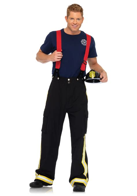 firefighter costume fireman costume mens firefighter captain costumes