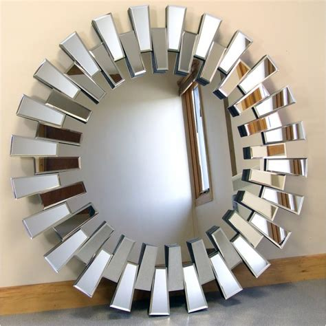 Types Of Antique Chairs Chelsea Art Deco Bevelled Venetian Round Wall Mirror 39