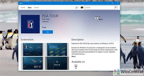 windows 10 app ui tutorial pga tour llc brings its exclusive redesigned touch