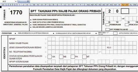 Format Lop Spt Tahunan | download formulir 1770 spt tahunan wajib pajak format