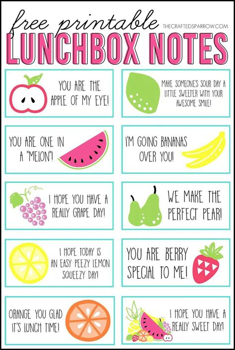 printable lunch box free printable lunchbox notes free printable school