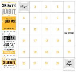 Blank 30 Day Calendar Template by 30 Day Printable Calendar Detoxinista