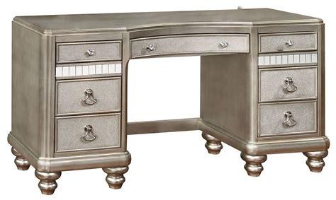 bling vanity desk bling metallic platinum vanity desk from coaster