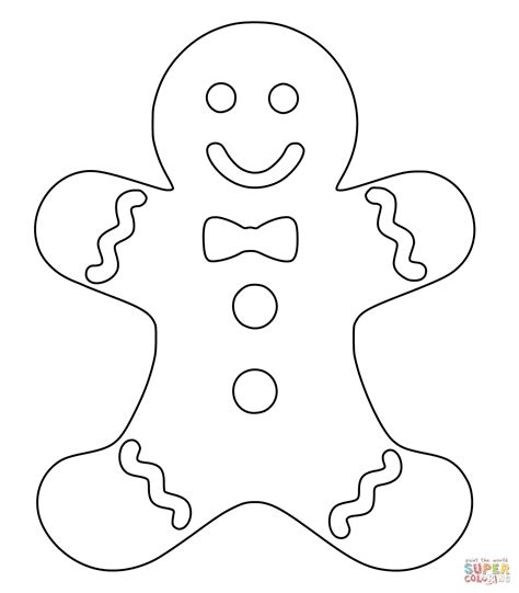 christmas gingerbread man coloring page free printable