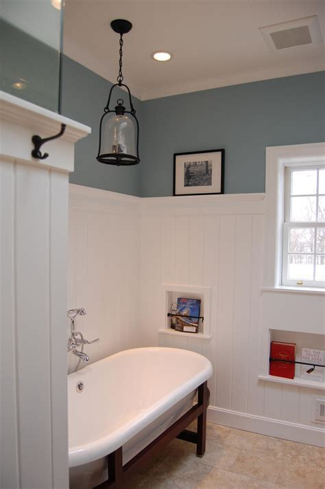 wainscotting bathroom fairfield farm bath remodel included lots of custom